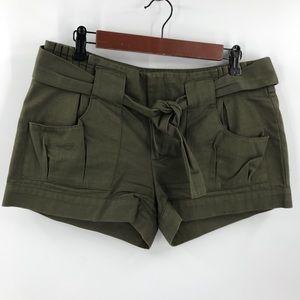 BCBGeneration Tie Paper Bag Waist Shorts